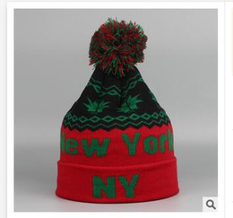 Wholesale Wholesale Church Hats New York - Skiing Hats New Orleans Mens Ladies Womens Beanie Knitted Oversize Beanie Caps Christmas hat Best gifts Casual NEW YORK Hat