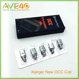 Original occ spule online-Kanger Subox Mini Kit neue OCC Spule Bio-Baumwolle Spulen 0,5 Ohm (15 W-30 W) 1,2 Ohm (12 W-25 W) für Subtank Mini 100% Original