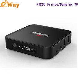 Wholesale Iptv Receiver Box Arabic Channels - T95M Smart Android Arabic IPTV Box Amlogic S905X WIFI 1 Year Subscription 1300 French UK Netherlands European IPTV Channels TV Receiver