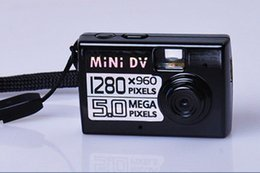 Wholesale Kids Camera Sd Card - Mini Digital Camera Digital Camera New Arrival Black Appareil Photo free Shipping Worlds Smallest Hd Video Mini Dv Dvr 720*480 1280x960