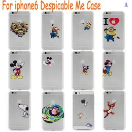 """Wholesale Despicable Hard Case Iphone - Christmas gift for iPhone6 6g i6 Despicable Me Mickey Mouse Slim Plastic Hard Back Case Cover for iphone 6 plus 4.7 5.5"""" case"""