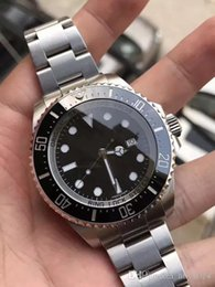 Wholesale Diving China Watches - WWWLuxury brands Mens Dive Watches Sport watch for men China quality 44MM Ceramic bezel Automatic Mechanical Movement Stainless Steel Strap