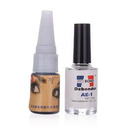 Wholesale Glue Debonder - Professional False Eyelashes Extensions Adhesive Lashes Glue With Remover Liquid Debonder Set For Women Beauty Makeup Hotting