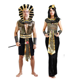 Wholesale Indian Girl Halloween Costumes - Girls Halloween Costume Egypt Princess Cosplay Uniforms Party Fashion