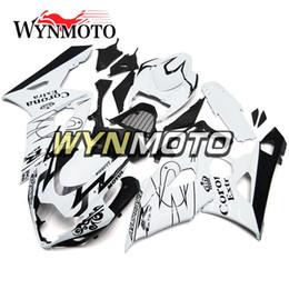 Wholesale Bike Body Fairings - Full White Fairing Kits For Suzuki GSXR1000 GSX-R1000 K3 Year 2005 2006 Motorcycle Injection ABS Fairings Bike Body Frames Carenes