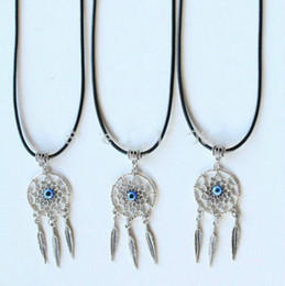 Wholesale dreamcatcher jewelry - 2015 NEW HOT Vintage Silver Dreamcatcher Collar Choker Chain Necklaces Pendants Jewelry