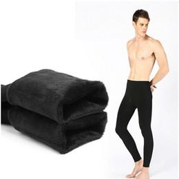 Wholesale Cashmere Long Underwear Men - Wholesale-Free Shipping winter Warm Men plus cashmere leggings Leggings Tight Men Long Johns Plus Size Warm Underwear Man thermal pants