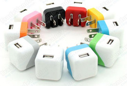 Wholesale Cell Phone Charge Wholesale - USB Home AC Power Adapter Wall Charger Charging Foldable EU US Plug For cell phones Universal Portable