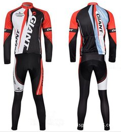 Wholesale Team Clothes Wholesale - Giant Autumn Paragraph Riding Suit Wicking Long Sleeve Cycling Clothes 100% Polyester Fabric Cycling Team Cycling Clothes