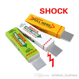 Wholesale Shock Chewing Gum Toy - Safety Trick Joke Toy Electric Shock Shocking Chewing Gum Pull Head