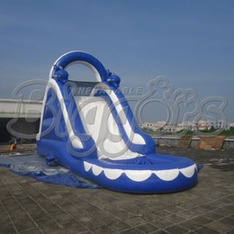 Wholesale Commercial Inflatables - FREE SHIPPING BY SEA Popular Commercial Inflatable Water Slide Inflatable Jumping Slide With Pool
