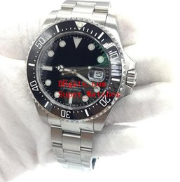 Wholesale Sea Dwellers - Super Original Box Papers Sapphire Wristwatches Basel Red SEA-DWELLER Stainless Steel 43mm Watch 126600 Automatic Movement Watch Watches
