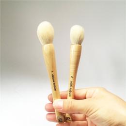 Wholesale Mini Kabuki - Rae Morris Brush 1 Deluxe Kabuki & 2 Mini Kabuki - High-Grade Goat Hair Blush Contour Highlighter Brush - Beauty makeup brushes Blender