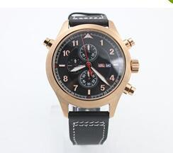 Wholesale Marine Stainless Watch - 2017Classic Brand Quartz Marine Diver U-N Gold Bezel Conquer The Ocean Black Dial Black Leather Male Watch
