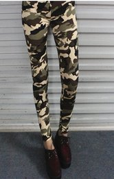 Wholesale East Knitting Leggings - East Knitting A34 harajuku style camouflage clothing 2014 fashion women pants ARMY print leggings free shipping