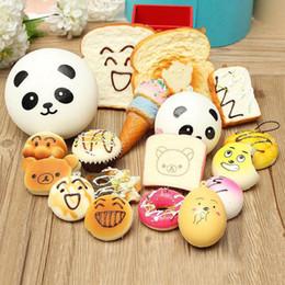 Wholesale rilakkuma big - Kawaii Squishy Rilakkuma Donut Soft Squishies Cute Phone Straps Bag Charms Slow Rising Squishies Jumbo Buns Phone Charms