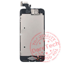 Wholesale Iphone Home Buttons - For iPhone 5 5S 5C LCD Display &Touch Screen Digitizer full Assembly with camera+home button flex cable+Earpiece Speaker Free Shipping