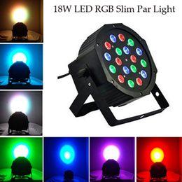 Wholesale 18 Led Blue Strobe Light - 18*1W LED Stage Light 110 - 220V RGB Par Light DMX512 Master Slave Lighting Effect Lamp for Party Disco Lighting Show