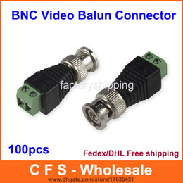 Wholesale Video Camera Connector - 100pcs Coax CAT5 To Camera CCTV BNC UTP Video Balun Connector Adapter BNC Plug For CCTV System Free Shipping