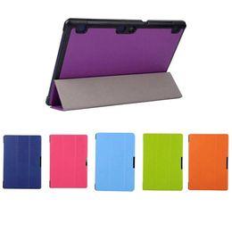 Wholesale Lenovo Tablet Protective Case - High quality 3 Folding Ultra Slim Leather Case Smart Cover Protective Case Stand For Lenovo A7600 A10-70 10.1 inch Tablet Case