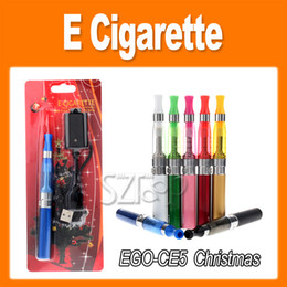 Wholesale Ego T Ce5 Blister - EGO-T Battery CE5 Atomizer Christmas EGO Electronic Cigarette Blister Kit 650mah 900mah 1100mah Battery Electronic Cigarette kit 0209009