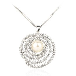Wholesale Boutique For Sale - 2015 Hot Sale Sliver Plated Pearl Necklace For Women Boutique Gift Free Shipping
