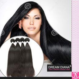 Wholesale Derun Virgin Hair - Virgin Russian Straight Hair 4 Bundles Natural Color Brazilian Rosa Hair Products Extensions De Cheveux Naturels 100 Human Hair Derun Hair