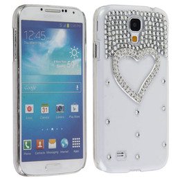 Wholesale Galaxy S4 3d Bling - Wholesale-Transparent 3D Handmade Bling Glitter Love Heart Shaped Hard Case Cover for samsung Galaxy S4 i9500