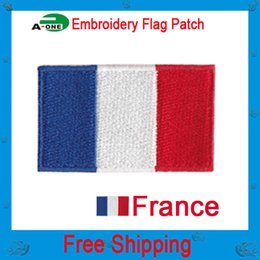 Wholesale Clothing Wholesalers France - New 10PCS Sewing Craft france Flag Patches For Clothes Embroidered Iron Sew Badges Applique Jeans Jacket Bag Decor