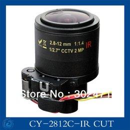 """Wholesale Ir Mega 12mm - cctv camera IR CUT lens 2.8-12mm Auto Iris lens 1 2.7"""" 12*0.5mount F1.4 2 Mega pixels lens for Security Camera"""