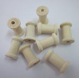 Wholesale graphic vinyl - Wooden Spools 2.3x1.5cm DIY tool Wooden Spool, 100pcs lot Free shipping 001002002