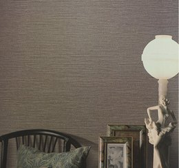 Wholesale Wallpaper Roll Stripes - Wholesale- Faux Woven Textured Natural Grasscloth Wallpaper Cream Silver Grey Stripe Linen Vinyl Wallpaper Designer Grass Cloth Wallpaper