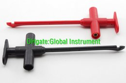 Wholesale Piercing Test Clip - Insulation Piercing Clip test probe Banana Jack Spring loaded copper red black
