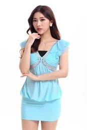 Wholesale Type Ladies Dress - 8279 Evening dress ktv princess nightclub lady ds costume dress package hip skirt stage performances
