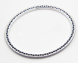 Wholesale High Quality Silver Charm Beads - High-quality 925 Sterling Silver Twinkling Forever Bangle with Clear CZ Barrel Clasp for European Charms and Beads