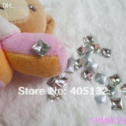 Wholesale Pointed Back Rhinestones 8mm - Wholesale-CG-05 Free Shipping 50pcs bag 8mm Square Gem Crystal Point-back Gem Crystal Nail Rhinestone Nail Art