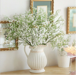 Wholesale Gardening Decor - Artificial Baby's Breath Fake Silk Flower Home Wedding Garden Decor babysbreath Vintage Artificial Flowers Gypsophila Festive