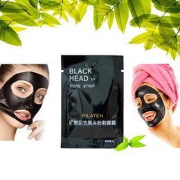 Wholesale Acne Face Cream - PILATEN Suction Black Mask Face Care Mask Deep Cleaning Tearing Style Pore Strip Deep Cleansing Nose Acne Blackhead Facial Mask 3200PCS