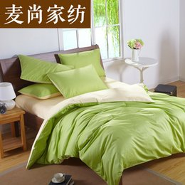 Wholesale King Size Satin Comforters - Custom Solid Color Bedding Set Green 50% Silk Satin Bedding Sets King Size Comforter Sets Queen Full Twin Size Fitted Cover Bed In a Bag