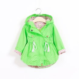 Wholesale Korean Button Down - Free DHL3 Colors Girl fashion hoodies coat Autumn Jackets For girls New 2015 Korean version Brand Polka Dot Bat shirt Coat Children Hoodie