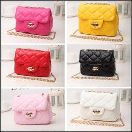 Wholesale Leather Bag Moq - 2015 Hot Korean style Princess fashion Shoulder Bag chain Handbag Kids Bright Color PU Leather lovely mini bag MOQ:3pcs free ship SVS0399#