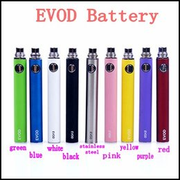 Wholesale Ce5 Ce6 - Electronic Cigarette EVOD Battery 650mah 900mah 1100mah E-cigarette Battery for MT3 CE4 CE5 CE6 E cig Kit Instock
