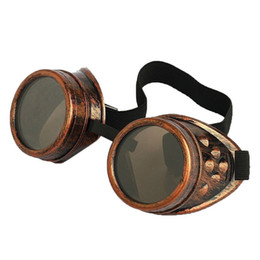 Wholesale Steampunk Cyber Goggles - Cyber Goggles Steampunk Sunglasses Welding Goth Cosplay Vintage Goggles Rustic 10pcs