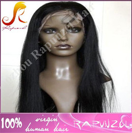 Wholesale Cheap Ties China - China manfacture cheap price jet black#1 Brazilian hair full lace wig for black women