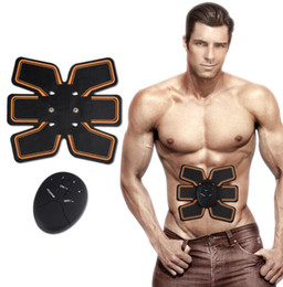 Wholesale Ems Stimulator - Smart EMS Wireless Electric Massager Abdominal Muscle Toner ABS Fit Muscle Stimulator Abdominal Muscles Trainer