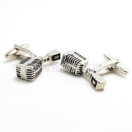 Wholesale Nails Music - Dongguan tastes microphone manufacturers supply cufflinks cufflinks cuff nail spot for music lovers CZ