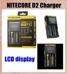 Wholesale Battery Charger Lcd Display - NITECORE D2 Digicharger Intelligent LCD Display Universal intellicharger Smart Charger for IMR Li-ion Ni-MH Ni-Cd Rechargeable Battery FJ138