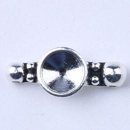 Wholesale Diy Cork Jewelry - DIY antique silver metal alloy precious cork base fashion jewelry collet fit necklace bracelet keychain bag decoration 500 pcs lot 1706c
