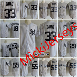 Wholesale Bird Wines - Mens 33 Greg Bird Cool Base Jersey Stitched 18 Didi Gregorius 29 Todd Frazier 54 Aroldis Chapman 55 Sonny Gray Flex base Jerseys S-3XL