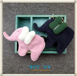 Wholesale Kids Cross Shoulder Purse - New Baby Girls Coin Purses 12pcs lot Fashion Cute Elephant Handmade Kids Purses Handbags Girl lovely Bag cotton cross Bag A7954
